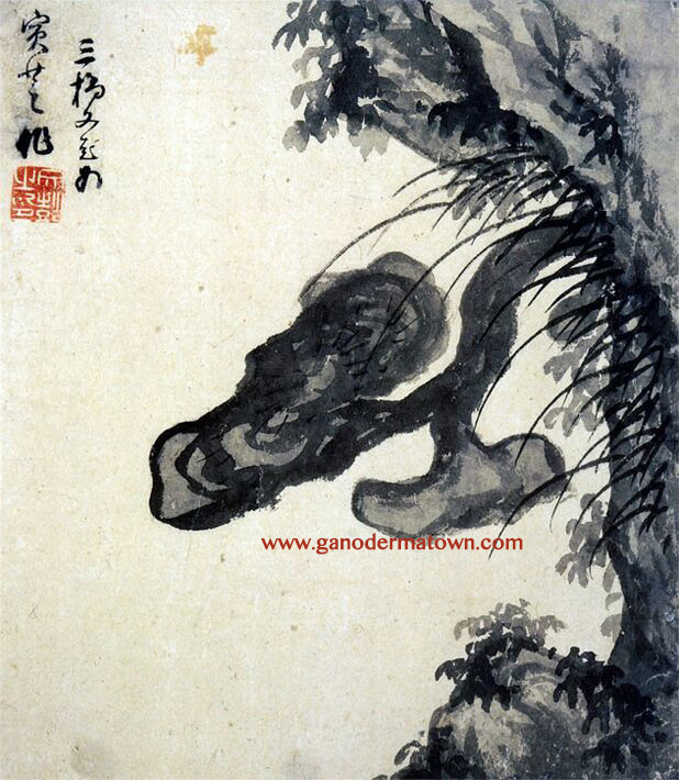 Ganoderma Ming Dynasty Chinese painting appreciation